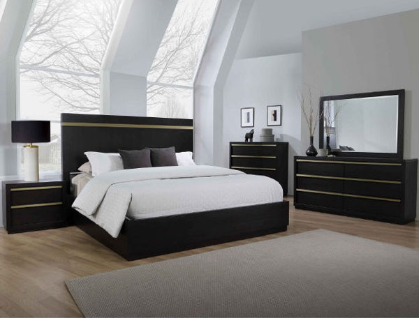 Picture of LASTRA BLACK KING BEDROOM GRP