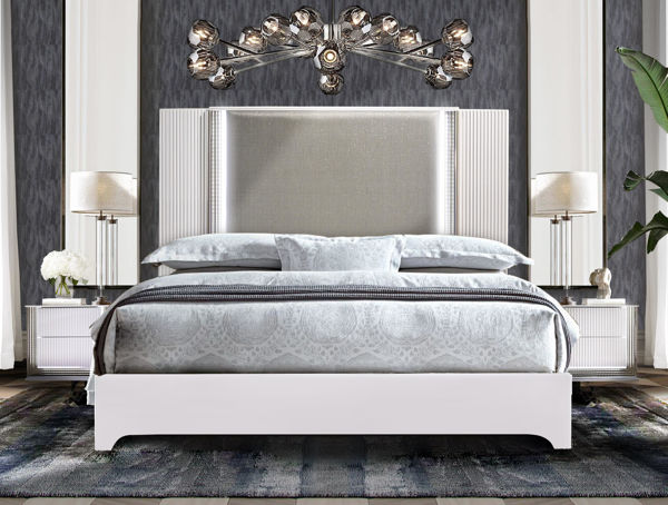Picture of ASPEN WHITE QUEEN BED + LED